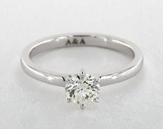 .7ct Round Solitaire Engagement Ring in White Gold - See it in 360 HD SuperZoom!