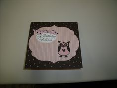 Birthday card for my co-worker who loves owls.  Created by Pinkinkerie.