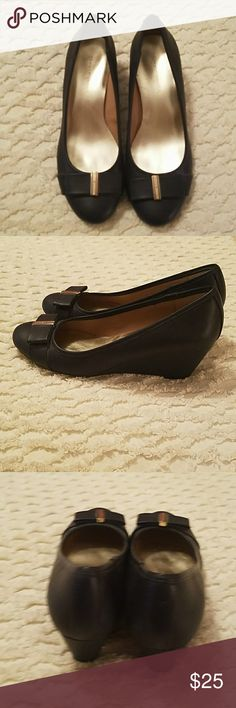 bd05589c8c15f8 Tommy Hilfiger ladies Wedge Shoes All made materials Wedge heel Navy (209) Tommy  Hilfiger