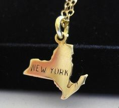 Gold New York Charm Necklace