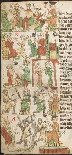 Eike <von Repgow> Heidelberger Sachsenspiegel — Ostmitteldeutschland, Anfang 14. Jh. Cod. Pal. germ. 164 Folio 1v Medieval Manuscript, 14th Century, Art Boards, Vintage World Maps, History, Creative, Heidelberg, Germany, Pictures