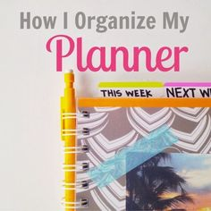 I'm not this anal about my planner but I do love color coordinating! Organized Charm: How I Organize My Planner