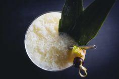 Snow Bird. Tequila, all spice dram, lemon, spiced pear shrub, ice.