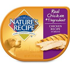 Natures Recipe Chicken Recipe In Broth Grain Free Wet Dog Food 275Ounce Pack of 24 * Click image for more details.
