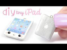 Kawaii Mini Apple iPad Charm polymer clay tutorial