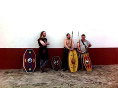 Celto-Germanic foederati at Roman training ground.