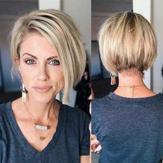50 best ideas for short hairstyles 2020 Trend bob hairstyles 2019 - Frisur Ideen Cute Hairstyles For Short Hair, Straight Hairstyles, Long Haircuts, Pixie Bob Hairstyles, Short Womens Hairstyles, Medium To Short Hairstyles, Short Hair With Undercut, Short Hair Long Bangs, Easy Hairstyles