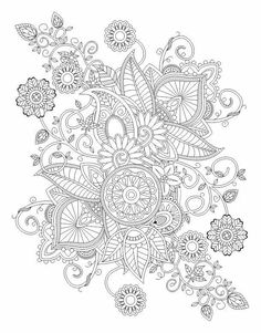 Coloring for adults - Kleuren voor volwassenen Pattern Coloring Pages, Printable Adult Coloring Pages, Coloring Book Pages, Mandala Art, Relaxing Art, Indian Patterns, Doodle Designs, Mandala Coloring, Free Coloring