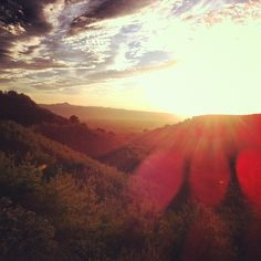 Nothing like a sunrise peeking through the rolling hills of the Central Coast. http://www.visitcalifornia.com/Explore/Central-Coast/