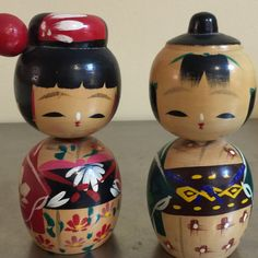 Kokeshi Dolls  Made in Japan  Set of 2  by PineStreetPickers