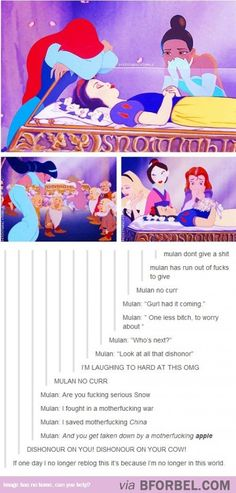 """While Other Disney Princesses Mourn For Snow White, Mulan Was All """"Meh""""… Yes."""
