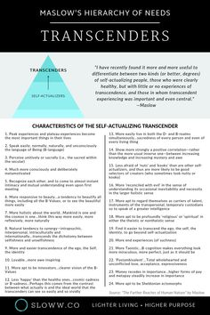 """In his later years, Maslow revised his hierarchy of needs to propose Transcendence above Self-Actualization in """"The Farther Reaches of Human Nature"""". Here's the difference between Transcenders vs Self-Actualizers. Teamwork Quotes, Leader Quotes, Leadership Quotes, Coaching Quotes, Life Coaching, Intelligence Quotes, Emotional Intelligence, Leadership Development, Self Development"""