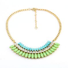 Bubble Bib Charm Statement Necklace, Gold Plated mecklace, Collar Necklace