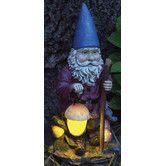 Hiking Solar Gnome Statue