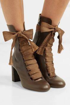 afbc43f2b722 Chloé - Harper textured-leather ankle boots