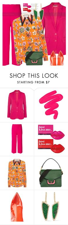 """Purple + Orange"" by lyusilgrig ❤ liked on Polyvore featuring STELLA McCARTNEY, Sigma, P.A.R.O.S.H., Avon, Gucci, Coccinelle, Puma, Kimberly McDonald and purple_orange"