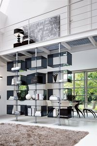 Living Room Wall System - The living room is one important part of the house. In choosing a design of your living room as a homeowner, not only consider the Ceiling Shelves, Glass Shelves, Shelving, Etagere Cube, Living Room Wall Units, Living Room Goals, Contemporary Living Room Furniture, Boffi, Regal Design