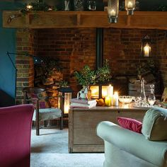 In This Cosy Living Room The Great Inglenook Fireplace Offers Ample Space To Store Logs