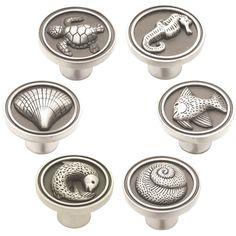 Liberty Coastal Sea Life Cabinet Drawer Knob Pull Turtle Fish Shell Seahorse NEW Kitchen Knobs, Kitchen Cabinet Hardware, Bathroom Hardware, Knobs And Handles, Drawer Knobs, Knobs And Pulls, Drawer Pulls, Cabinet Drawers, Cabinet Knobs