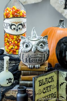 Whooo goes there? Shop for this little owl, and other spooky Halloween items, in-stores only.