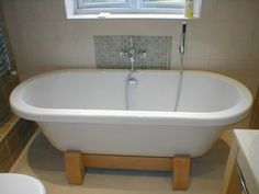 Image result for clawfoot tub wooden base