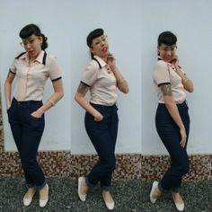 Pants for day by day #pinup #pinupgirl #brazilianpinup #pinupjoinville #cherryann #vintagestile #vintagegirl #50slife #50sstile