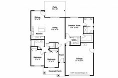 Craftsman House Plan - Camas 30-711 - Floor Plan