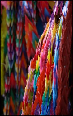 1000 origmi cranes for peace, Hiroshima, Japan: photo by Meipapa