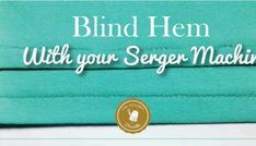You can make a Blind Hem with Serger Machines? This technique is a super clean way to finish the hems of all your knit sewing projects. Serger Thread, Serger Sewing, Sewing Tools, Sewing Hacks, Sewing Projects, Sewing Machine Tension, Solar System Crafts, Good Tutorials, Learn To Sew
