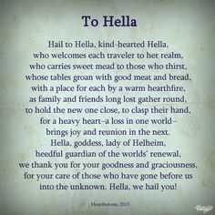 Prayer to Hella (Hel), Norse goddess of the dead, ruler of the underworld. Prayer to Hella (Hel), Norse goddess of the dead, ruler of the underworld. Norse Runes, Norse Pagan, Norse Symbols, Old Norse, Mayan Symbols, Egyptian Symbols, Ancient Symbols, Norse Mythology Goddesses, Gods And Goddesses