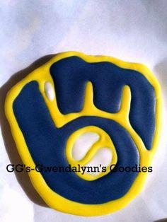 Milwaukee Brewers Baseball Cookies 1 dozen by GwendalynnsGoodies, $18.00