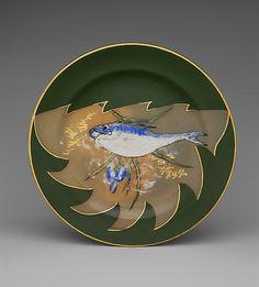 Plate  Decorated by Maria Longworth Nichols (1849–1932)