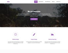 AKA is a Responsive Bootstrap HTML one page template. Expand is standards for personal portfolio, showcase, photography website. Bootstrap Template, Page Template, Templates, Free Portfolio Template, Personal Portfolio, First Page, Photography Website, Lorem Ipsum, Minimalism