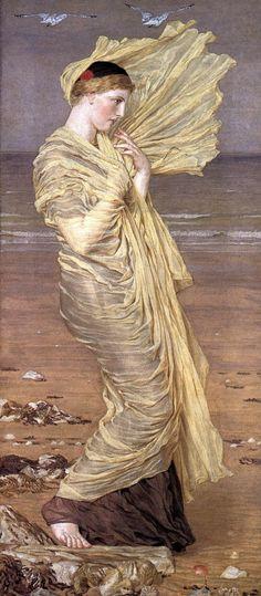The Athenaeum - Sea-Gulls (Albert Joseph Moore, A.R.W.S. - )