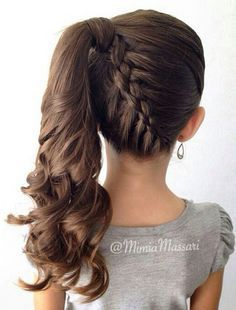 Kid hairstyles 617485798881533560 - Kids Hairstyles: 15 Easy and Cute Hairstyles For Kids Source by brucymailly Kids Hairstyles For Wedding, Easy Little Girl Hairstyles, Girls School Hairstyles, Cute Hairstyles For Kids, College Hairstyles, Girls Hairdos, Braided Ponytail Hairstyles, Easy Hairstyles, Gorgeous Hairstyles