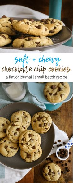 small batch soft and chewy chocolate chip cookies are fluffy, thick, and full of chocolate chip goodness. this small batch recipe allows you to just keep a few on hand (or in the freezer!) for those post-dinner dessert cravings. small batch soft and chewy chocolate chip cookies | a flavor journal food blog
