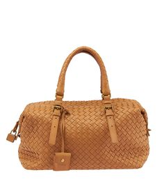 ace0675bd818 Bottega Veneta Brown Intrecciato Leather Boston Bag Boston Bag