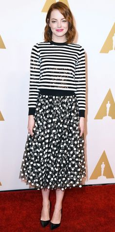 Look of the Day - February 3, 2015 - Emma Stone in Michael Kors from #InStyle