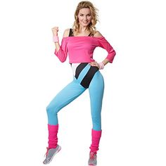 Workout Outfit Idea create an aerobics fashion look Workout Outfit. Here is Workout Outfit Idea for you. Workout Outfit create an aerobics fashion lo. 80s Aerobics Outfit, 80s Workout Clothes, 80s Workout Costume, Grey Fashion, 80s Fashion, Fashion Looks, Look 80s, Ladies Fancy Dress, Fitness Clothing