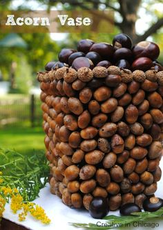 Acorn Vase- 20 Great DIY Fall Home Decor Projects that You Must Try This Season
