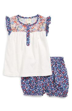 Tucker + Tate Flutter Sleeve Tunic & Bubble Shorts Set (Baby Girls) available at #Nordstrom