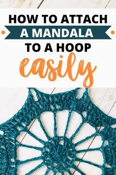 Crochet Dreamcatcher Pattern Free, Crochet Mandala Pattern, Crochet Patterns Amigurumi, Crochet Stitches, Quick Crochet, Crochet Home, Bead Crochet, Free Crochet, Crochet Necklace