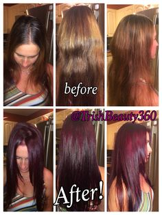 Before And After With CHI Ionic 5RV RedViolet Haircolor