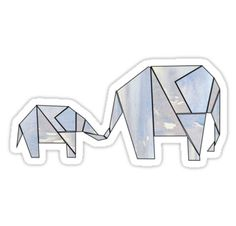 9bac85fdce2 geometric elephants • Also buy this artwork on stickers