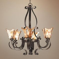 "Uttermost Vetraio Collection 31"" Wide 6-Light Chandelier"