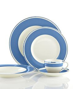 Villeroy & Boch Dinnerware, Anmut Colour Sky Blue Collection - Fine China - Dining & Entertaining - Macy's