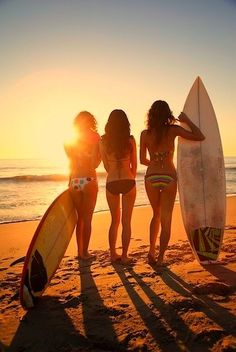 Such a cool pic. I could the girl in the middle without a surf board cause I don't surf :p