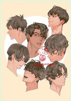 Drawing Tips Couple Digital Painting Tutorials, Digital Art Tutorial, Art Tutorials, Manga Hair, Anime Hair, Hair Reference, Drawing Reference Poses, Pretty Art, Cute Art