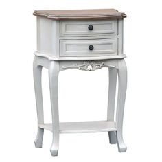 A PAIR OF Boudoir french shabby chic white bedside cabinets tables #BELLAINTERIORS