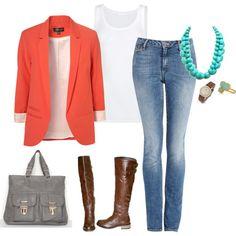 tourquoise & orange